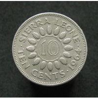 Сьерра-Леоне 10 центов 1964 KM# 19