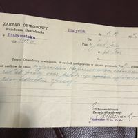 Zaswiadczenie dla pozostaajcych bez pracy.1930r.