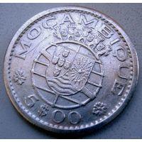 Мозамбик(Португальская колония). 5 эскудо 1960 г.