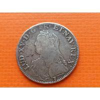 Экю 1727 год, король Людовик XV (1710-1774), Франция.