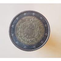 2 евро 2015 Литва 30 лет флагу