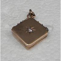 1860г_Кулон Медальон для Фото_Старинный Викторианский Медальон для Фотографий_Изящная ручная работа