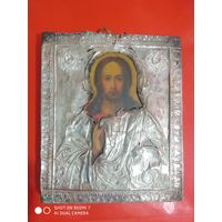 Все лоты с 1р без мнц.Икона серебро 84 1834г Питерская школа. Иисус Христос полная прописка.