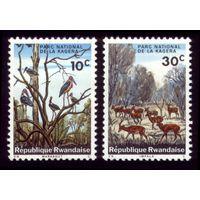 2 марки 1965 год Руанда Марабу и антилопы 104,106