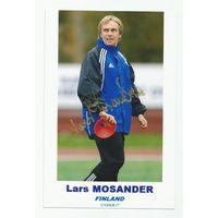 Lars Mosander(Финляндия U-17). Живой автограф на фотографии.