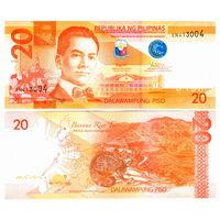 Филиппины  20 писо 2017 год  UNC  (новинка)