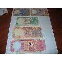 Индия 1+2+5+10+20 рупий