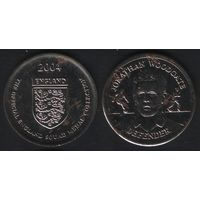 Official England Squad. Defender. Jonathan Woodgate -- 2004 England - The Official England Squad Medal Collection (f01)