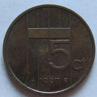 Нидерланды, 5 центов 1997 г