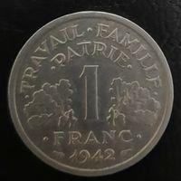 "Распродажа - Франция 1 франк 1942 ""LB""_km#902.1 - буквы слева от топора"