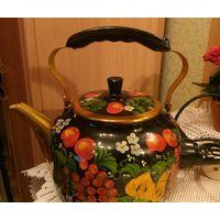 Чайник электро с росписью новый, на подарок, торг