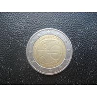 Словакия 2 евро 2009 10 лет Экономическому и Валютному союзу (человечек)