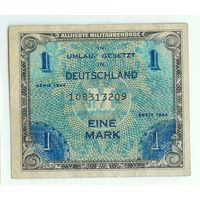 Германия 1 марка 1944 год,  оккупация