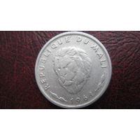 Мали 25 франков 1961