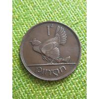 Ирландия 1 пенни 1928 г  Курица с цыплятами  тип 1
