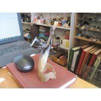 Горец-дударь, статуэтка из рога 16 см. Дагестан.
