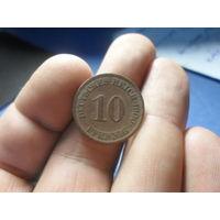 10 пфеннигов 1900 г. Германия