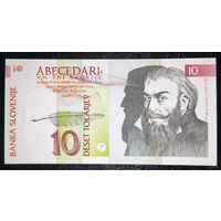 РАСПРОДАЖА С 1 РУБЛЯ!!! Словения 10 толаров 1992 год UNC