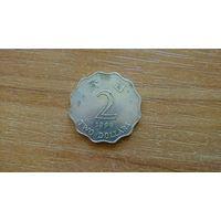 2 доллара 1998 г Гонконг Смещение канта