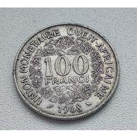 Западная Африка 100 франков, 1968 8-4-5