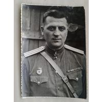 Фото офицера-гвардейца. 1950 г. 8х11.5 см