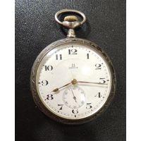 """Часы карманные """"Omega"""" из серебра, 1925 г. На крышке имеется декоративная резьба"""