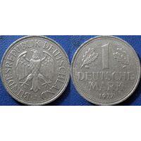 ФРГ, 1 марка 1977 J. монетный двор Гамбург