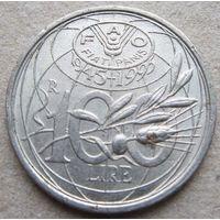 Италия 100 лир 1995 ФАО (3)