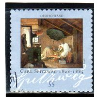 """Германия. Ми-2647. """"Бедный поэт""""; Картина Карла Шпицвега (1808-1885). Серия: 200-летие Карла Шпицвега. 2008."""