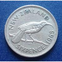 Новая Зеландия 6 пенсов 1965
