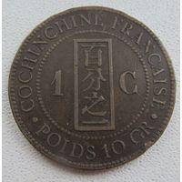 Французская Кошинчайна 1 цент 1879 ОЧЕНЬ РЕДКИЙ