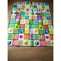 Большой  детский термо - коврик для ползания и игр 145 х 180 см