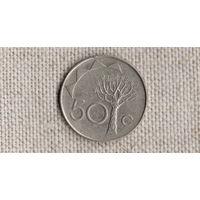 Намибия 50 центов 1993 /флора/FV/