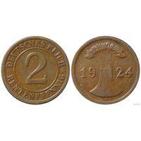 YS: Германия, 2 рентенпфеннига 1924E, KM# 31 (2)