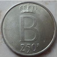 Бельгия 250 франков 1976 года. Серебро. Состояние аUNC!