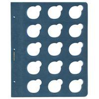 Лист на 15 монет в капсулах диаметром 39 мм. КоллекционерЪ, Цвет: синий. /976663/