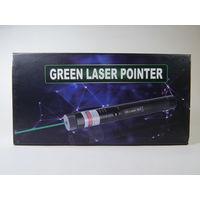 Мощная лазерная указка (мощный зеленый лазер)! 1 насадка в комплекте! Подарочная упаковка! В наличии!