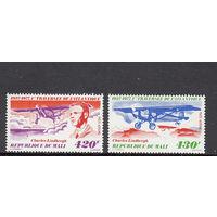 Авиация. Летчики. Мали. 1977. Полная серия.  Michel N 576-577 (6,0 е)