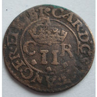 Шотландский торнер (двойной пенни) 1632-1633 г. первая медная монета на Беларуси-5