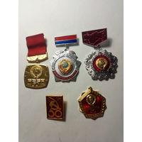 Значки 50 лет СССР.Старт с 2-х рублей без м.ц.Смотрите другие лоты,много интересного.
