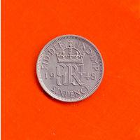 6 пенсов 1948. Великобритания.