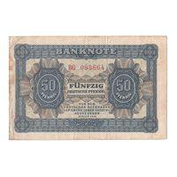 Германия ФРГ 50 пфеннигов 1948 года. Серия BG. Нечастая!
