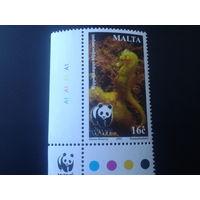 Мальта 2002 морской конек WWF