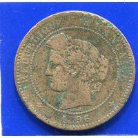 Франция 10 сантимов 1896