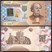 США - 50 Dollars - 5 штат Connecticut - 2014 - Polymer - UNC