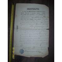 Свидетельство его императорского величества местковичской церкви пинского уезда 1868 года о рождении дворянина Телятицкого.