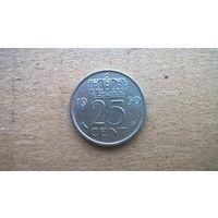 Нидерланды 25 центов, 1950г. (D-18)