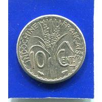 Французский Индокитай 10 центов 1940