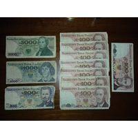 Сборный лот 11 польских банкнот 1982-86-88 г.г.