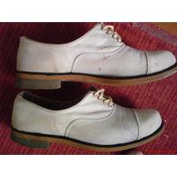Туфли парусиновые, белые 50-60 годов,